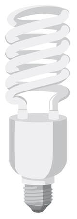 Single led light bulb illustration Illustration