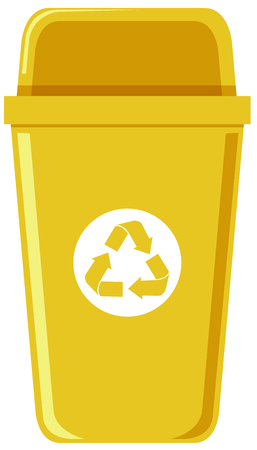 A recycle bin on white background illustration