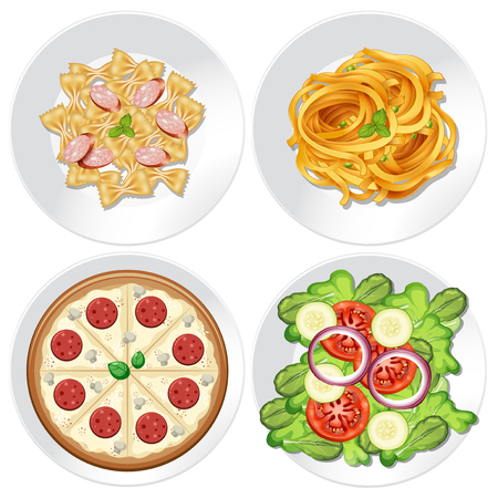 Set of healthy food illustration Illustration