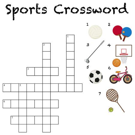 A sport crossword template illustration