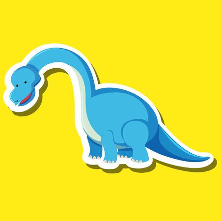 A dinosaur sticker character illustration