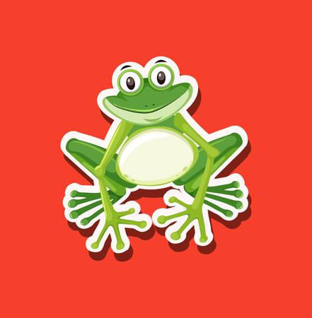 A frog character animal illustration Illustration