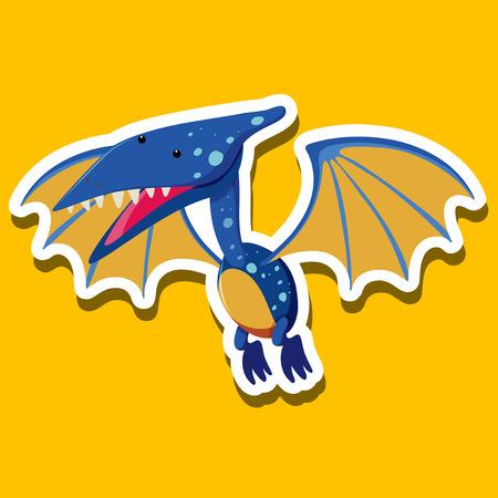 A Pteranodon sticker character illustration