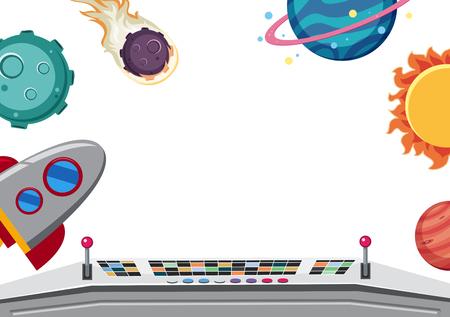 A space border template illustration Vetores