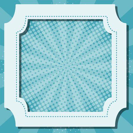 Blue background with frame illustration Ilustração