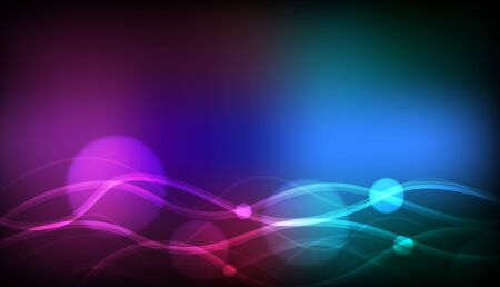 Background template design with colorful lights illustration