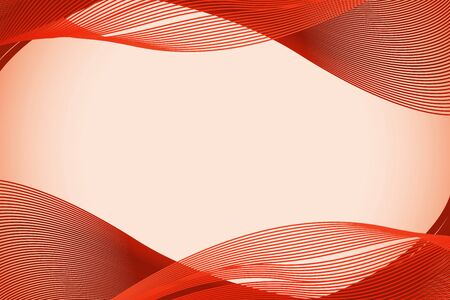 Background template with red wave lines illustration