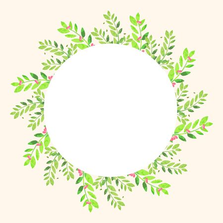 Frame design with flowers and leaves illustration