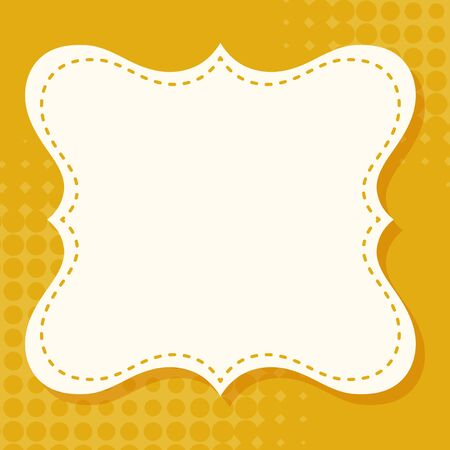 Yellow background with frame illustration