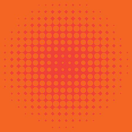 Background template design with orange dots illustration