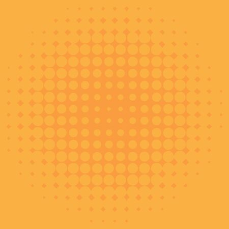 Background template design with yellow dots illustration