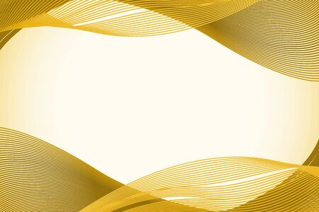 Background template with yellow abstract patterns illustration Ilustração