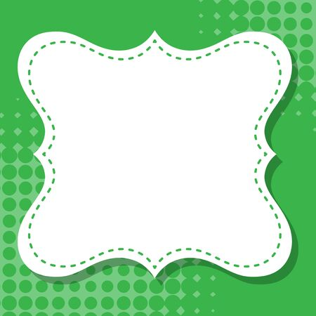 Frame template design with green dots illustration
