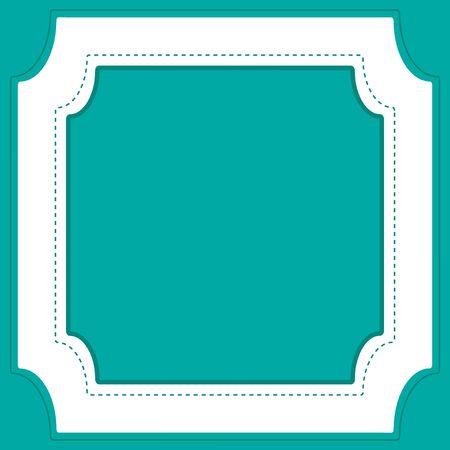 Frame template design with green background illustration Ilustração