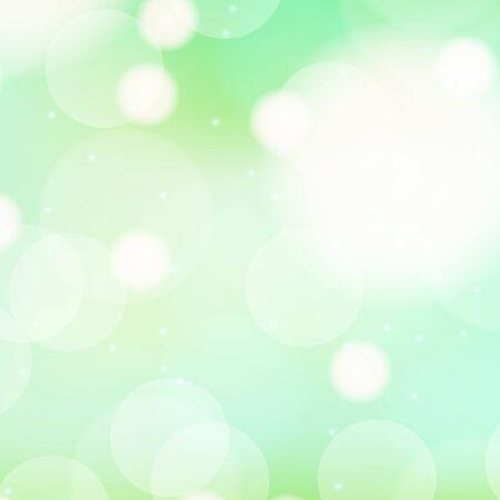 녹색 거품 일러스트와 함께 배경 템플릿 디자인