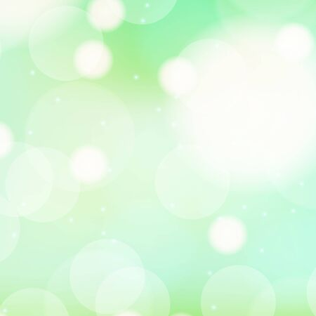 Background template design with green bubbles illustration