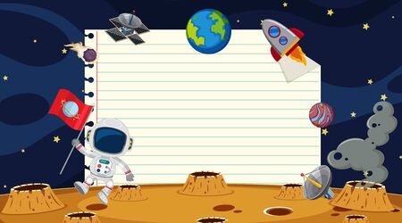 Paper template with space background illustration  イラスト・ベクター素材