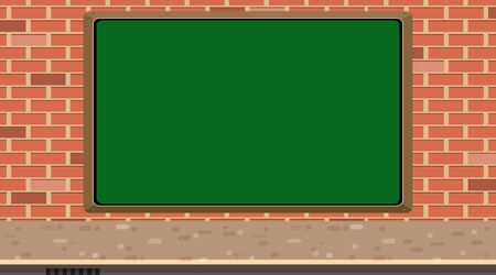 Background with chalkboard on brick wall illustration