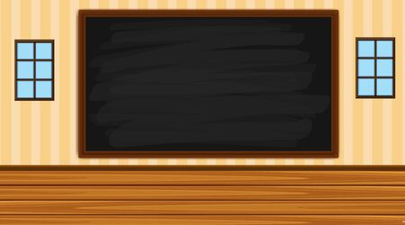Background with blackboard in the room illustration Ilustracja
