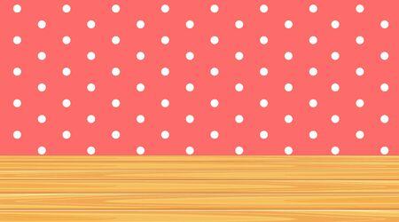 Wallpaper template with polka dot patterns illustration Standard-Bild - 137480690