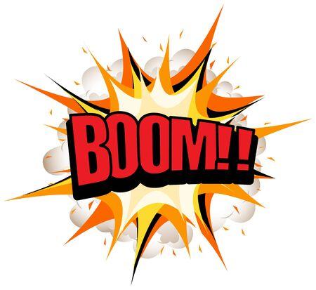 Expression words design for boom illustration