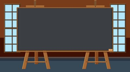 Blackboard in the middle of the class illustration