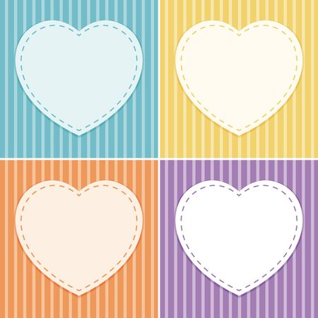 Background template with heart frame illustration