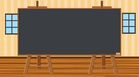 Blackboard template on the wall illustration