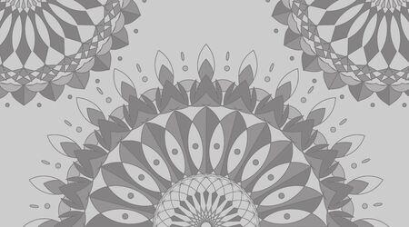 Mandala pattern design in gray color illustration
