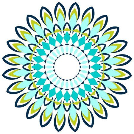 Mandala pattern design in blue color illustration