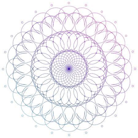 Mandala pattern design in purple color illustration