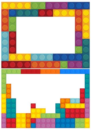Banner template with colorful blocks illustration Illustration