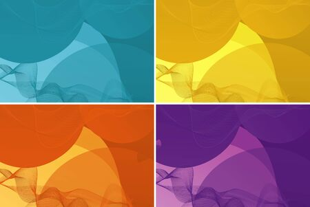 Background template in four colors illustration