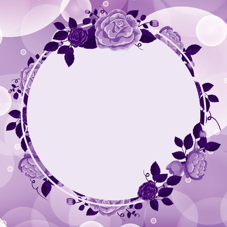 Background design with purple flowers illustration