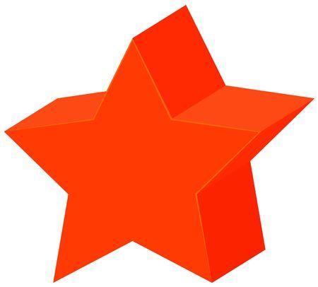 Geometric shape of star in orange illustration  イラスト・ベクター素材
