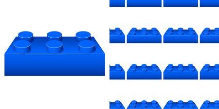 Seamless background design with blue block illustration