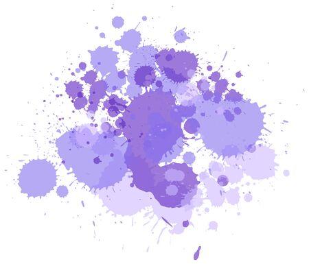 Watercolor splash in purple on white background illustration Ilustrace