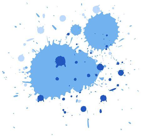 Splash aquarelle en bleu sur fond blanc illustration