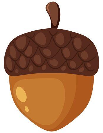 One pinecone on white background illustration Vektorové ilustrace