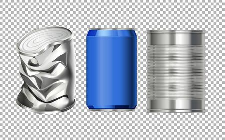 Aluminium can with no label on it illustration