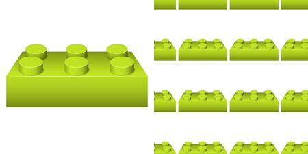Seamless background design with many green blocks illustration