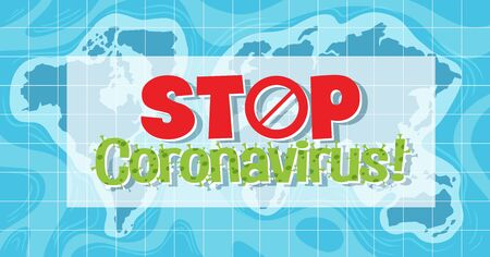 Corona virus global pandemic illustration