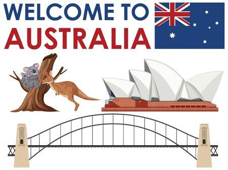 Welcome to Australia element illustration
