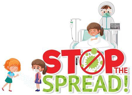 Stop spreading Corona virus illustration