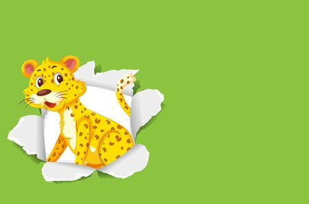 Background template design with wild tiger illustration