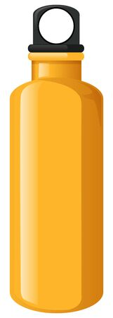 Water bottle in yellow color illustration