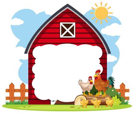 Border frame template with gardening theme background illustration