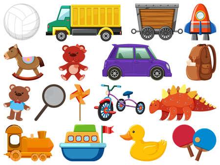 Set of various objects cartoon illustration 向量圖像