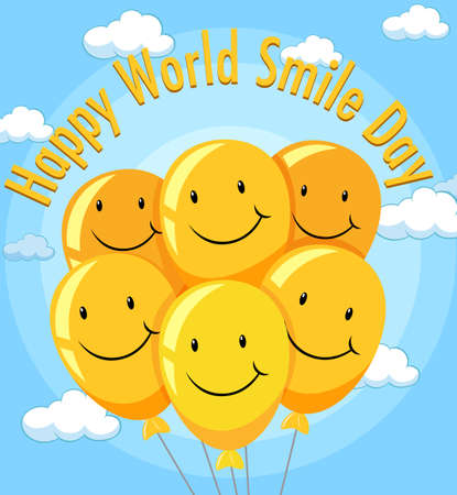 World smile day banner illustration Иллюстрация