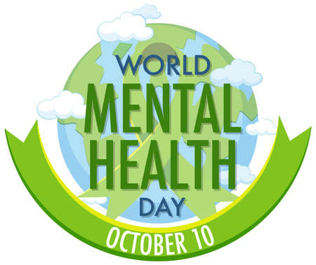 World mental health day icon illustration